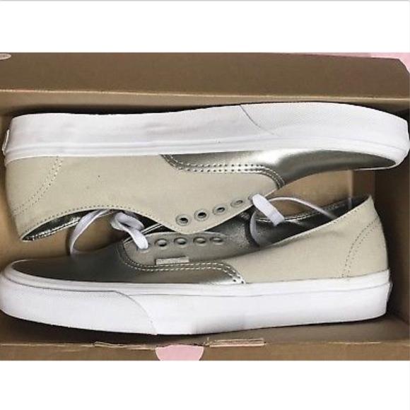 568f9b81bf8 Vans Authentic Decon Metallic Canvas Leather Shoe
